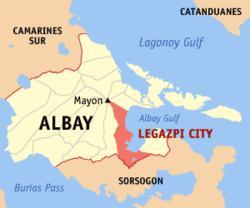 Bicol Naga Legazpi map