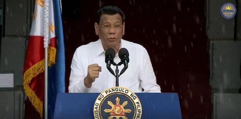 Duterte on rainy PMA 2019
