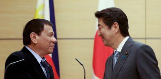 Duterte with Japan PM Abe
