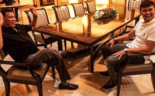 Matteo with Duterte