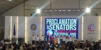 PROCLAMATION COMELEC SENATORS