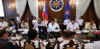 duterte presides cabinet meeting