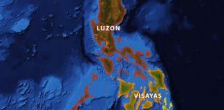 map LUZON VISAYAS MINDANAO