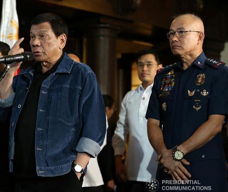 Duterte with PNP chief