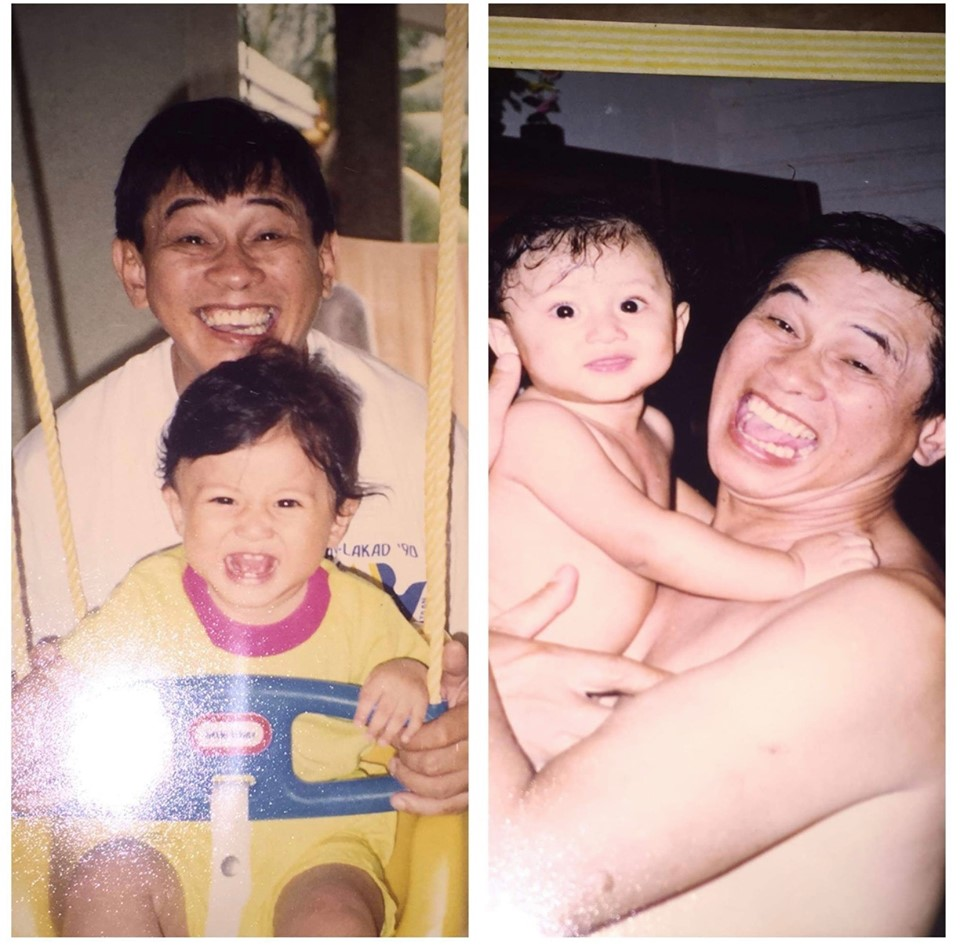 Gary Lising with only son Bugsy