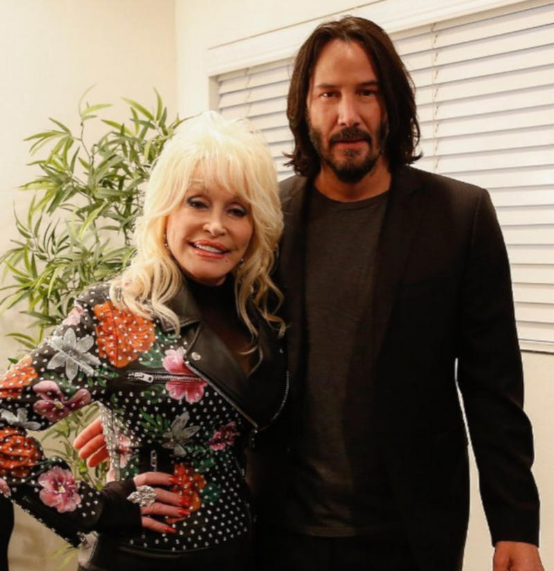 Keanu Reeves and Dolly Parton