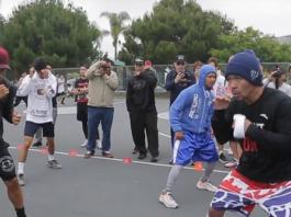 Pacquiao in LA training