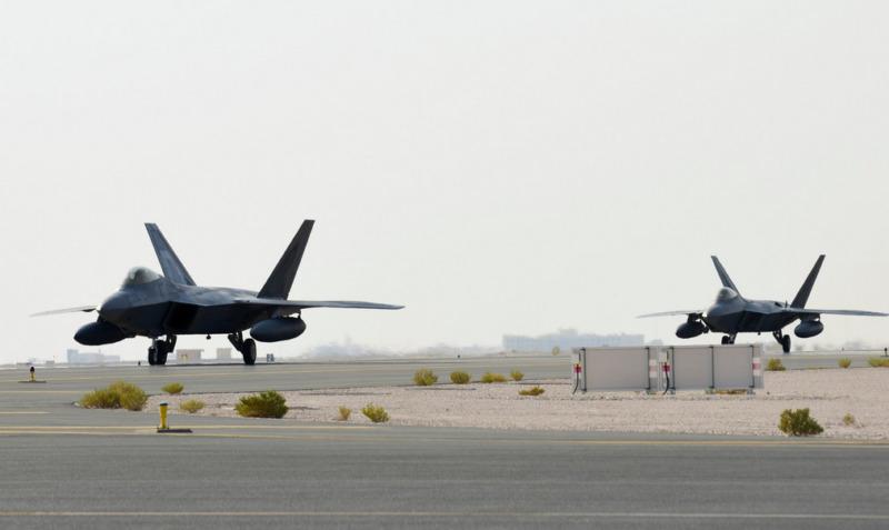 US Stealth Qatar F 22