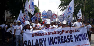 cropped teachers guro rally salary ACt