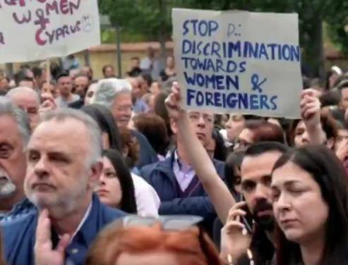 cyprus killing rally migrants