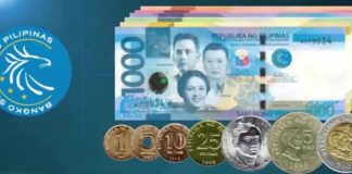 peso coins bank notes BSP money