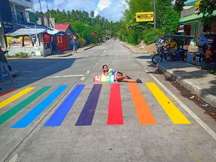 rainbow lane pride lane LGBTQ