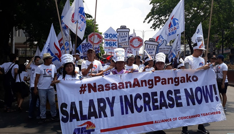 teachers guro rally salary ACt