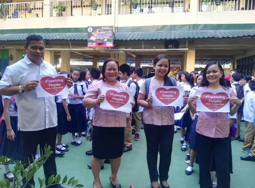 teachers rally salary students