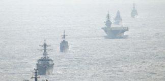 west PH sea South china warships