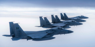 US air force fighter jets