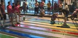 cropped LGBT Color Pedestrian