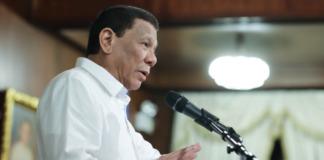 Duterte podium speech