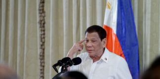 Duterte pointing head