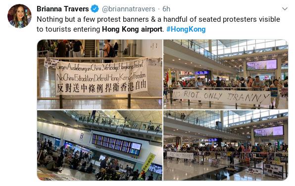 Hong Kong airport rally