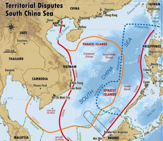 West PH Sea map South China spratlys reed bank