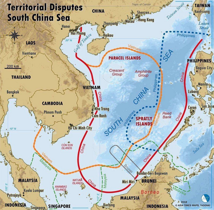 West PH Sea map South China spratlys reed bank