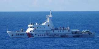 cropped China Coast Guard in Japan Sea