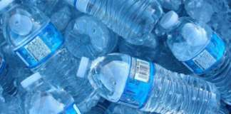cropped Drinking bottled water