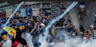 cropped Hong Kong protest rallies demos
