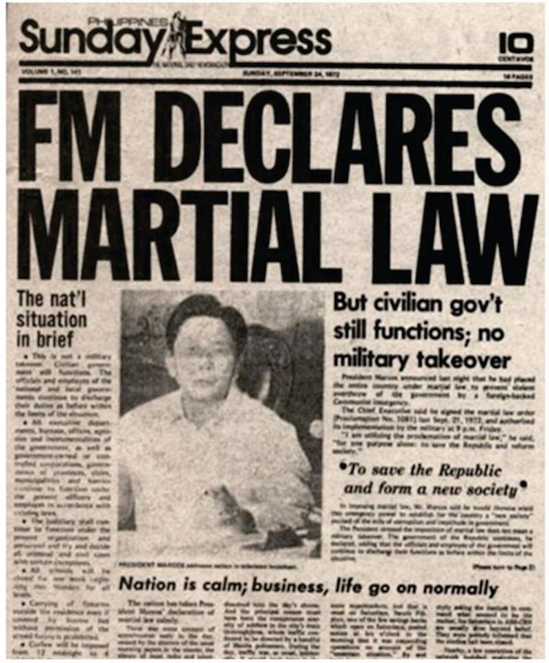 Martial law declaration
