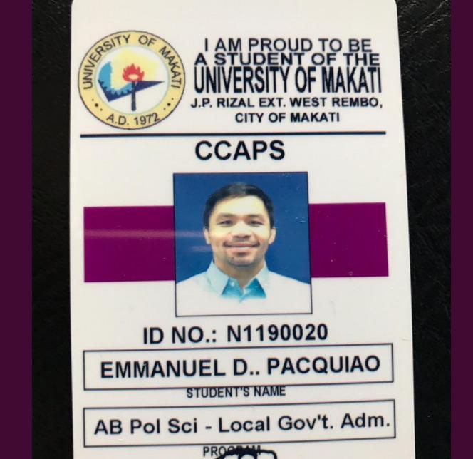 Pacquiao student ID