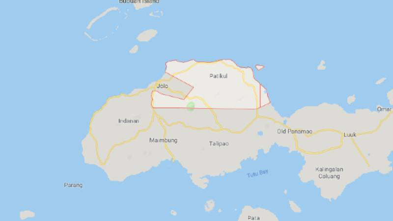 Patikul Sulu map