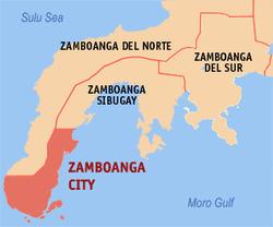 Zamboanga map