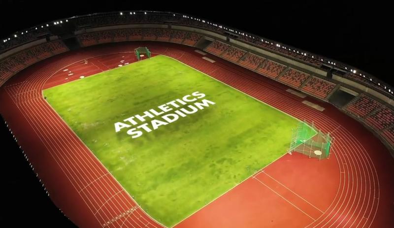 athletes stadium