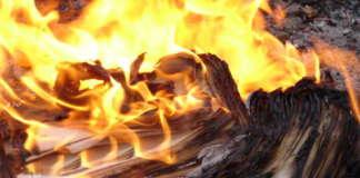 cropped burning paper