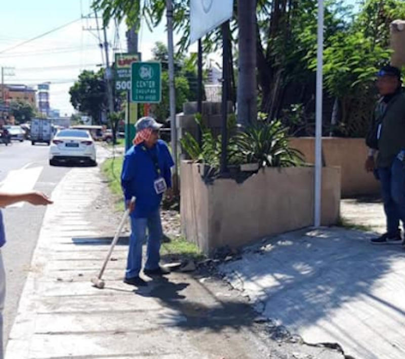 Dagupan City road clearing