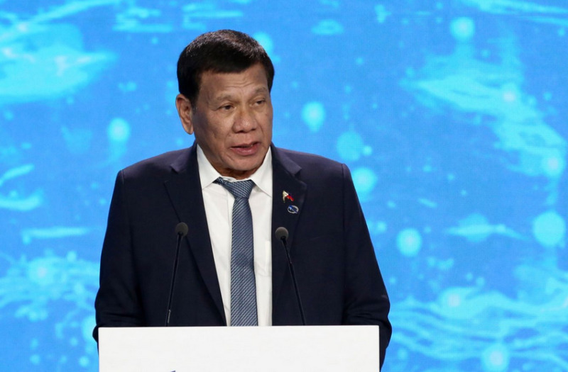 Duterte podium