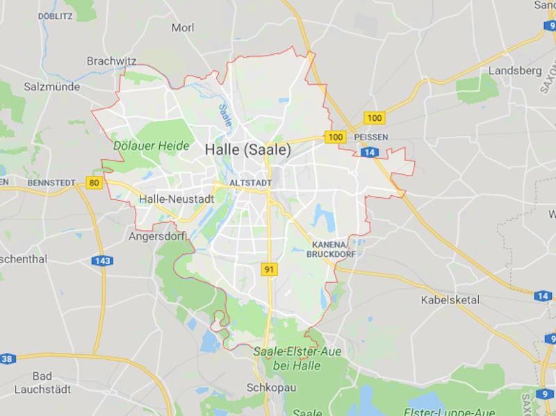 Halle city Germany