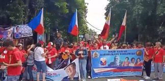 Marcos rally supporters