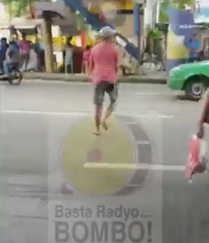 PWD jaywalking