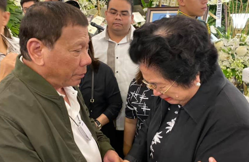 Pres Duterte and Mrs Pimentel