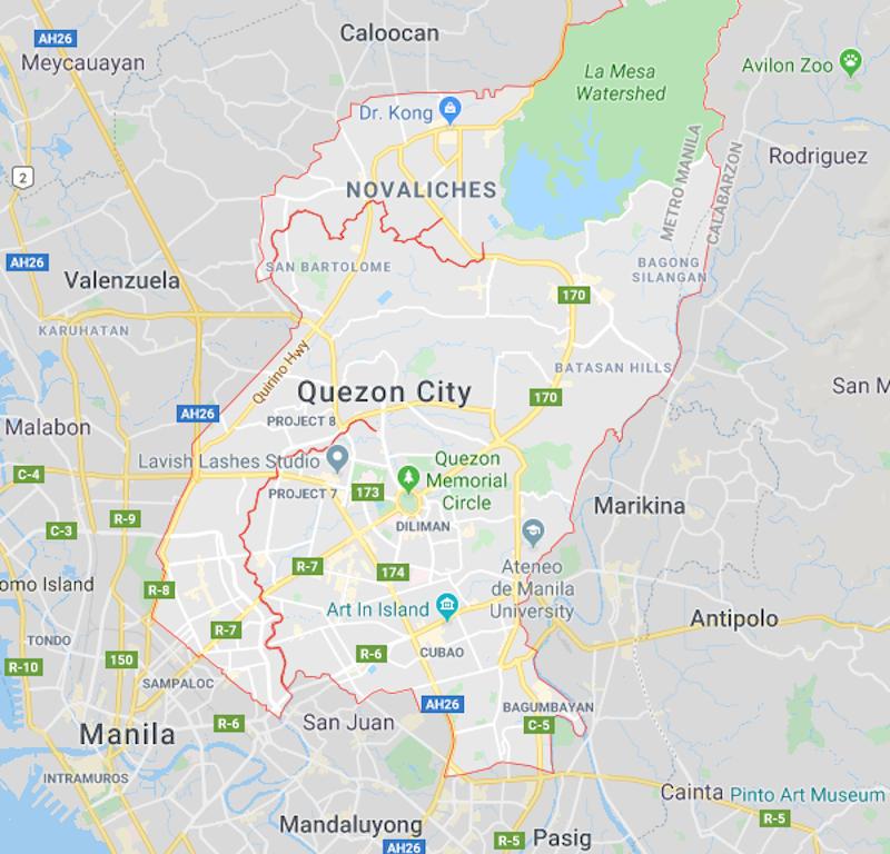 Quezon City map