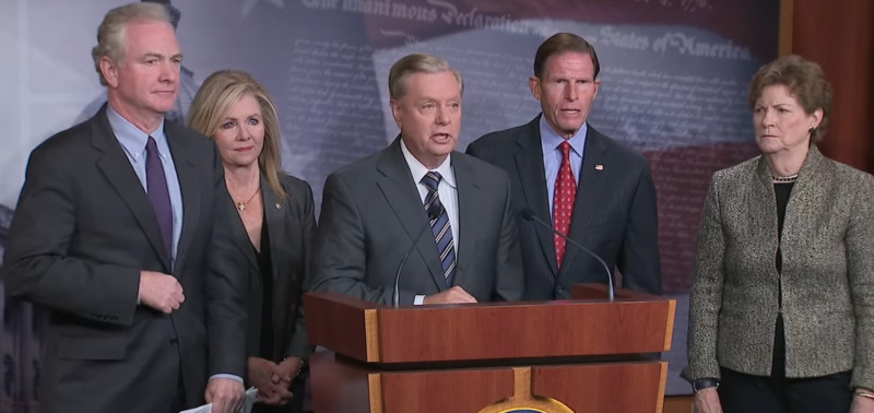 US senators Lindsey Graham Chris Van Hollen
