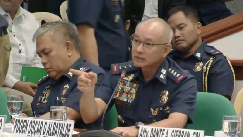 pnp chief oscar albayalde hearing