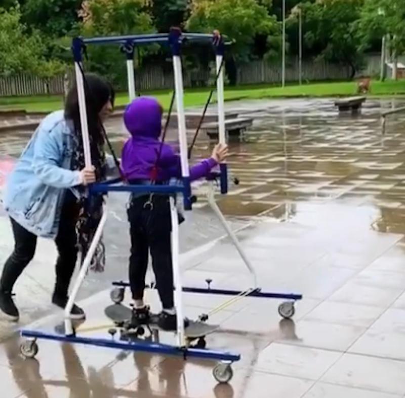 skater with cerebral palsy