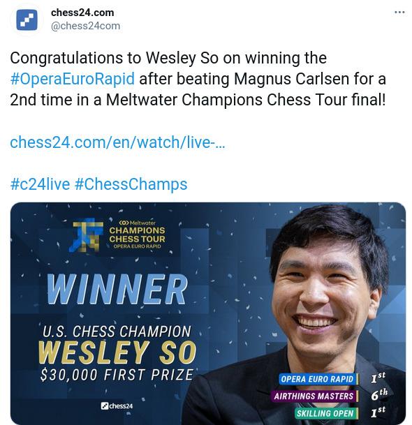GM Wesley So magnus