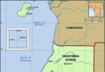 Equatorial Guinea map features locator