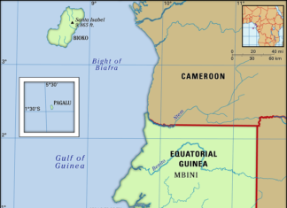 Equatorial Guinea map features locator