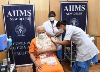 Narendra Modi vaccination