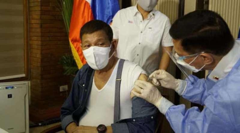 Duterte vaccinated Sinopharm